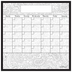 Dry Erase Calendar Fridge Monthly Calendar Magnet Paisley