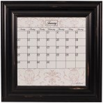 Small Contrast Calendar Board Framed Wood Black
