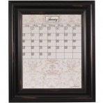 Medium Contrast Calendar Board Framed Wood Black