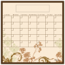 Natural floral collage fridge calendar