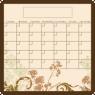 Dry Erase Calendar Fridge Monthly Calendar Magnet Floral