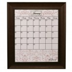 Large Contrast Calendar Board Framed Bead Brown