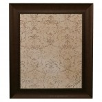 Large Mocha Message Board framed Bead Brown