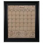Large Mocha Calendar Board Framed Black