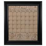 Large Mocha Calendar Board Framed Black