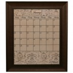 Large Mocha Calendar Board Framed Bead Brown