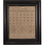 Medium Mocha Calendar Board Framed Wood Black