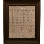 Medium Mocha Calendar Board Framed Bead Brown