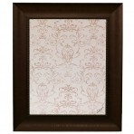 Medium Contrast Message Board framed Bead Brown