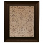 Medium Mocha Message Board Framed Bead Brown