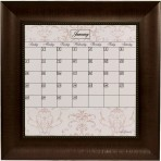 Small Contrast Calendar Board Framed Bead Brown