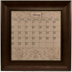 Small Mocha Calendar Board Framed Bead Brown