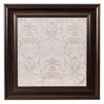 Small Contrast Message Board framed Brown