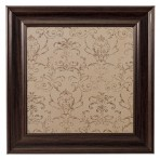Small Mocha Message Board framed Brown