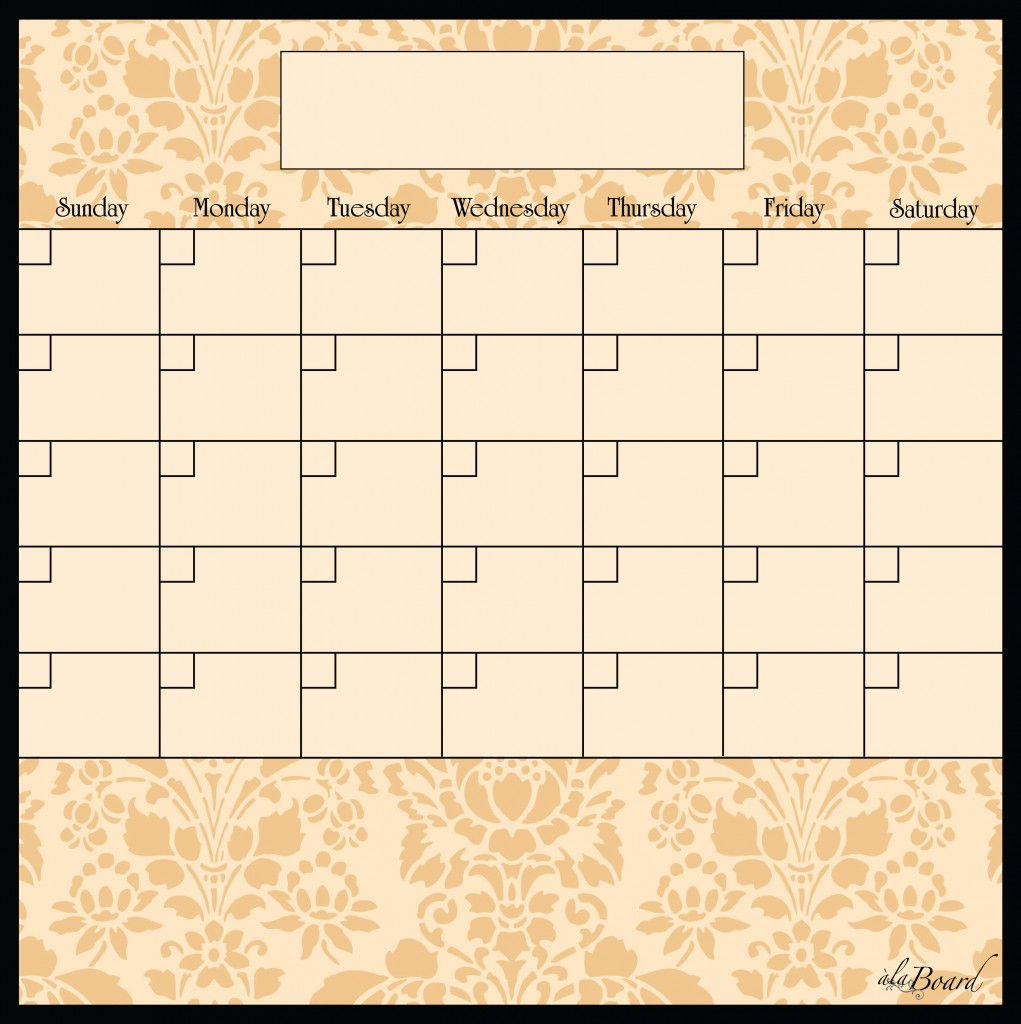 Dry Erase Calendar Template : Dry erase magnetic calendars new calendar template site