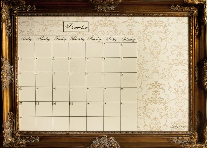 Dry Erase Calendars: Calendar