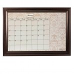 XL Contrast Calendar Board Framed Brown