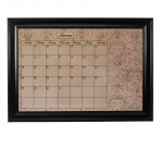 XL Mocha Calendar Board Framed Black