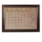 XL Mocha Calendar Board Framed Brown