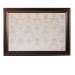 XL Contrast Message Board framed Brown