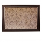 XL Mocha Message Board framed Brown