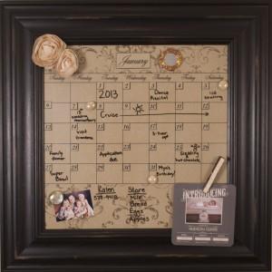 Framed Wall Calendar dry erase calendars: calendar