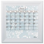 Small Tapestry Calendar Board Framed White