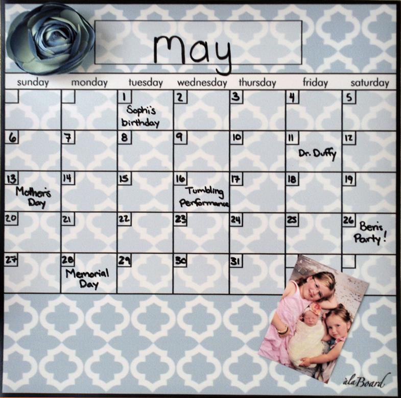 Dry Erase Calendars Fridge