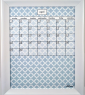 Medium Sky Lattice Calendar Board framed White