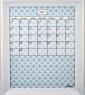Medium Sky Lattice Calendar Board framed White