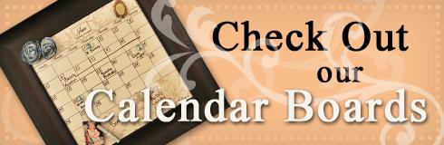 Dry Erase Calendar Board