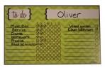 Green Chevron Stripe Chore Chart Magnet