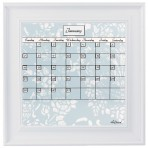 Small Gray Calendar Board Framed White