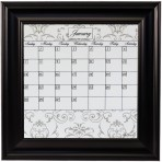 Small Gray Calendar Board Framed Black