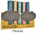 Pinwheel Chalk Board Clothespin and Button Magnet Accessories