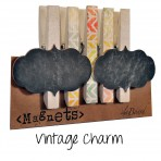 Vintage Charm Clothespin and Button Magnet Accessories