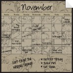 Monthly Fridge Calendar Decal Mocha