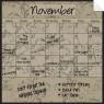 Monthly Fridge Calendar Decal Mocha