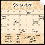 Monthly Fridge Calendar Decal Wheat