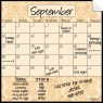 Monthly Fridge Calendar Decal Wheat
