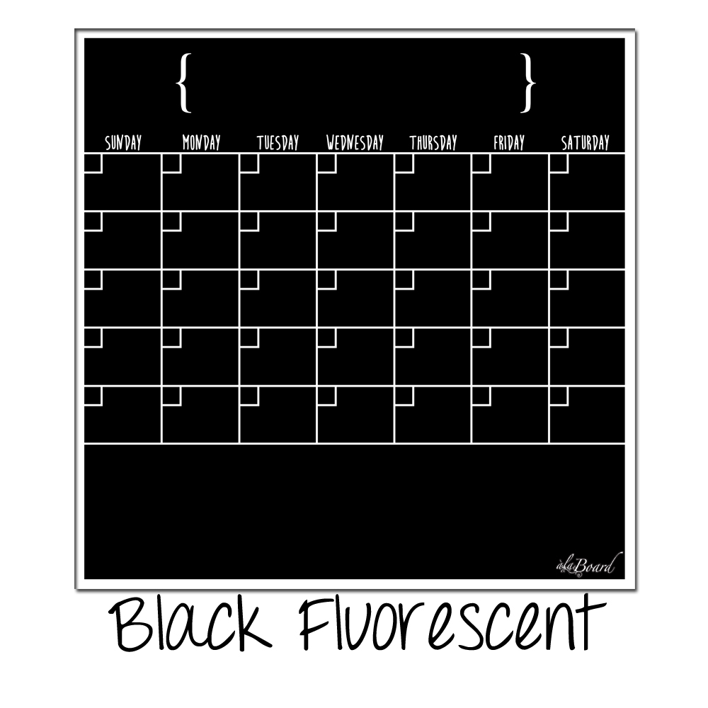 Dry Erase Weekly Calendar Board : Dry erase calendar fridge monthly magnet black