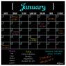 Monthly Fridge Calendar Decal Black