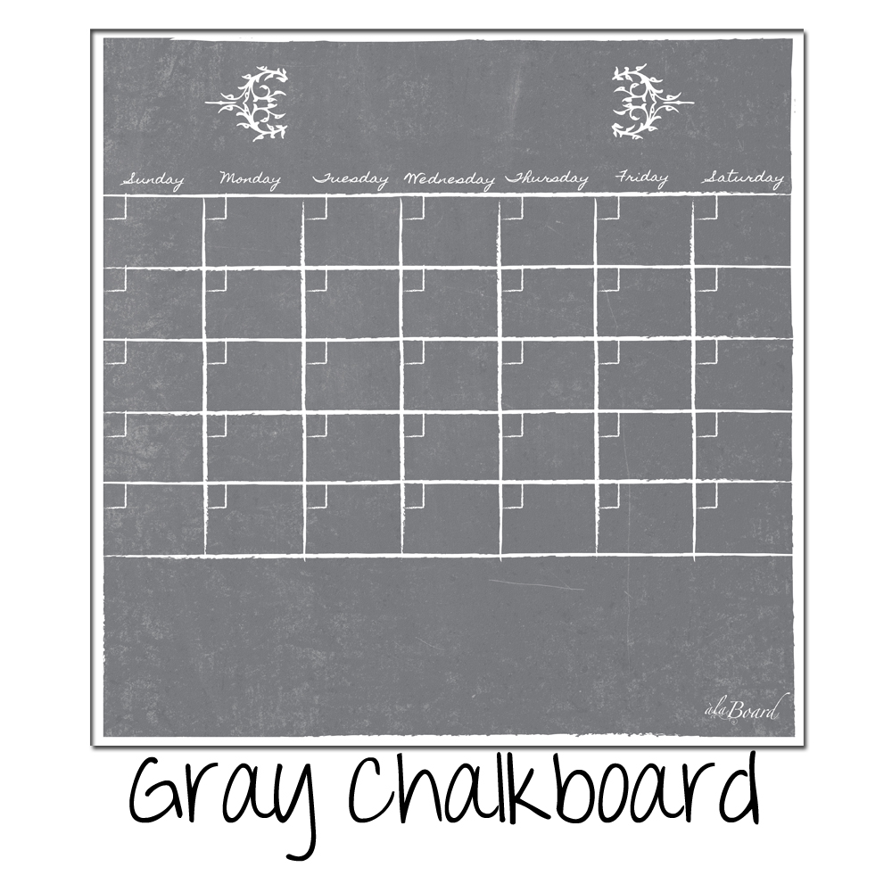 Monthly Fridge Calendar Decal Gray