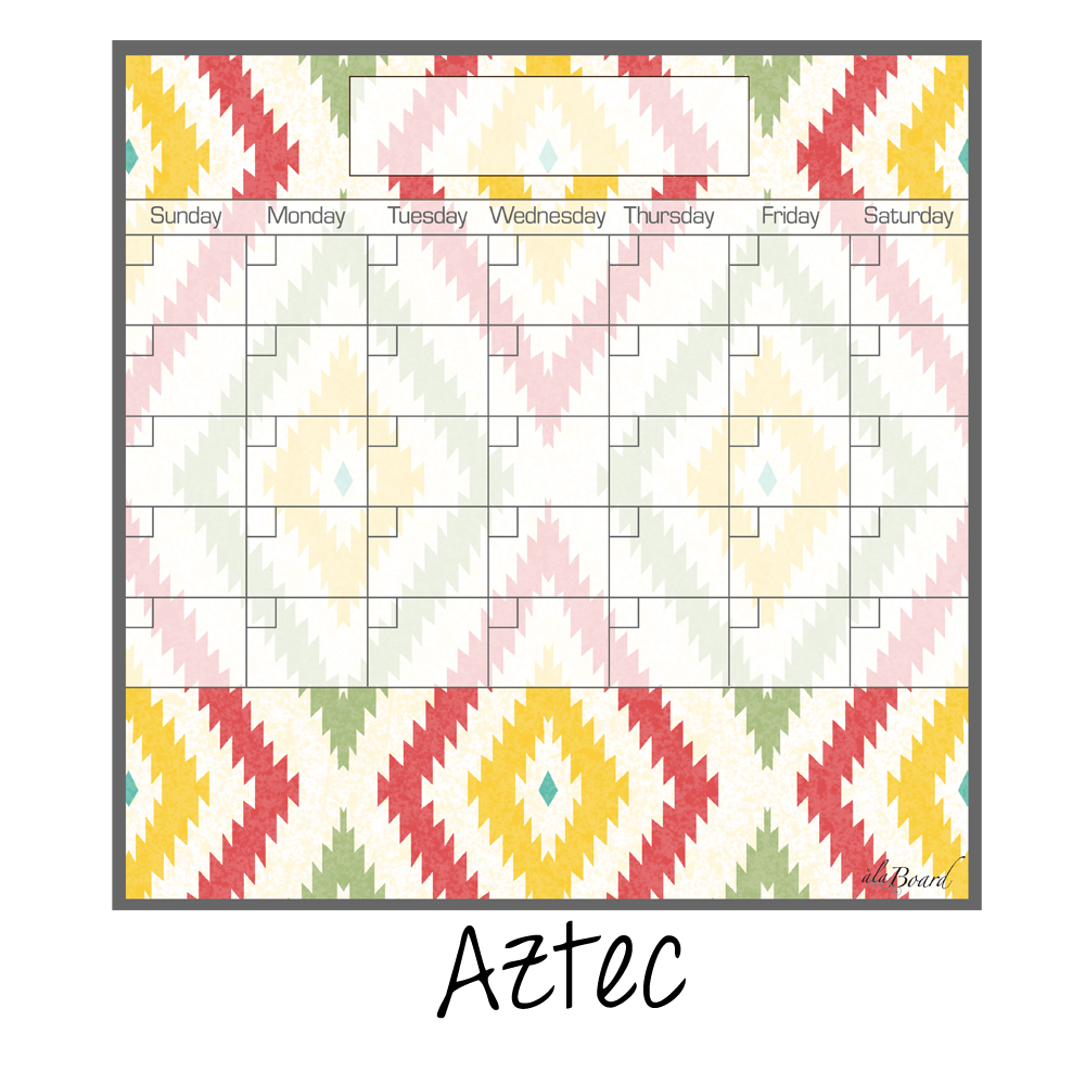 Magnetic Weekly Calendar For Refrigerator : Dry erase calendar fridge monthly magnet aztec