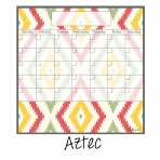 Monthly Fridge Calendar Decal Aztec