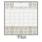 Dry Erase Calendar Fridge Monthly Calendar Magnet Tribal