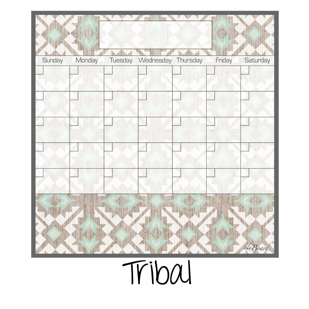 Dry Erase Calendar Fridge Monthly Calendar Magnet Tribal