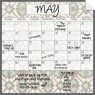 Monthly Fridge Calendar Decal Tribal