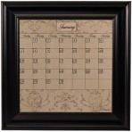 Small Mocha Calendar Board Framed Black