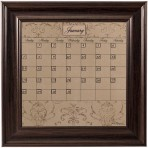 Small Mocha Calendar Board Framed Brown